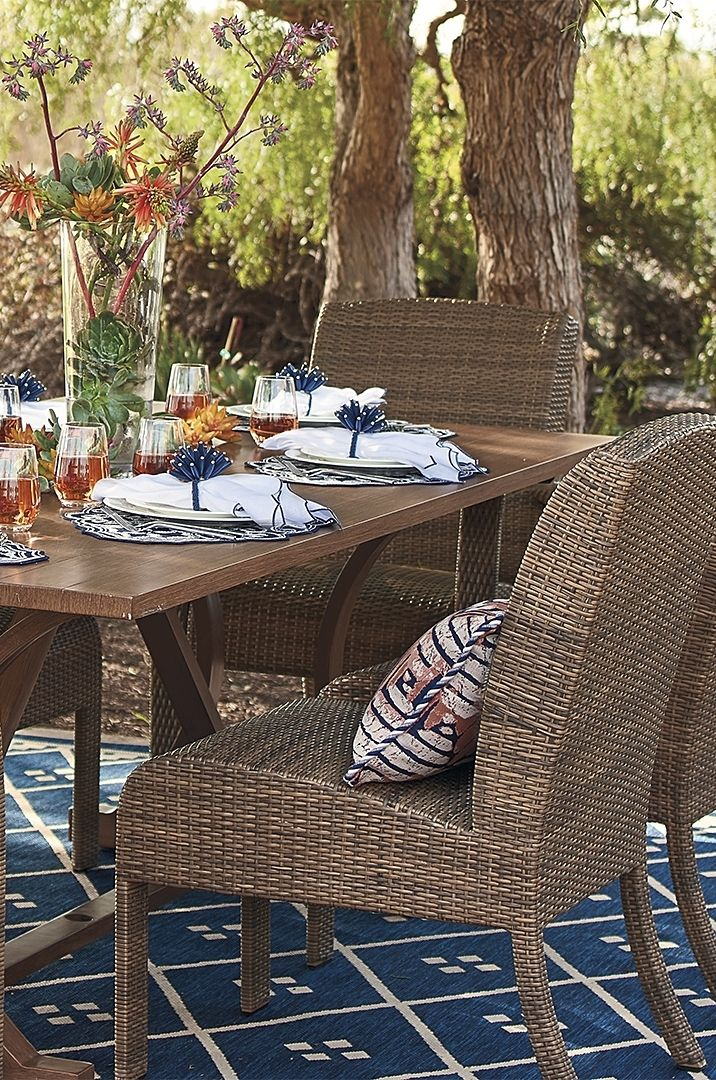 Like Its Namesake Island Our Madeira Dining Collection Elicits Carefree Sophistication Frontgate Live Beautifully Outdoors