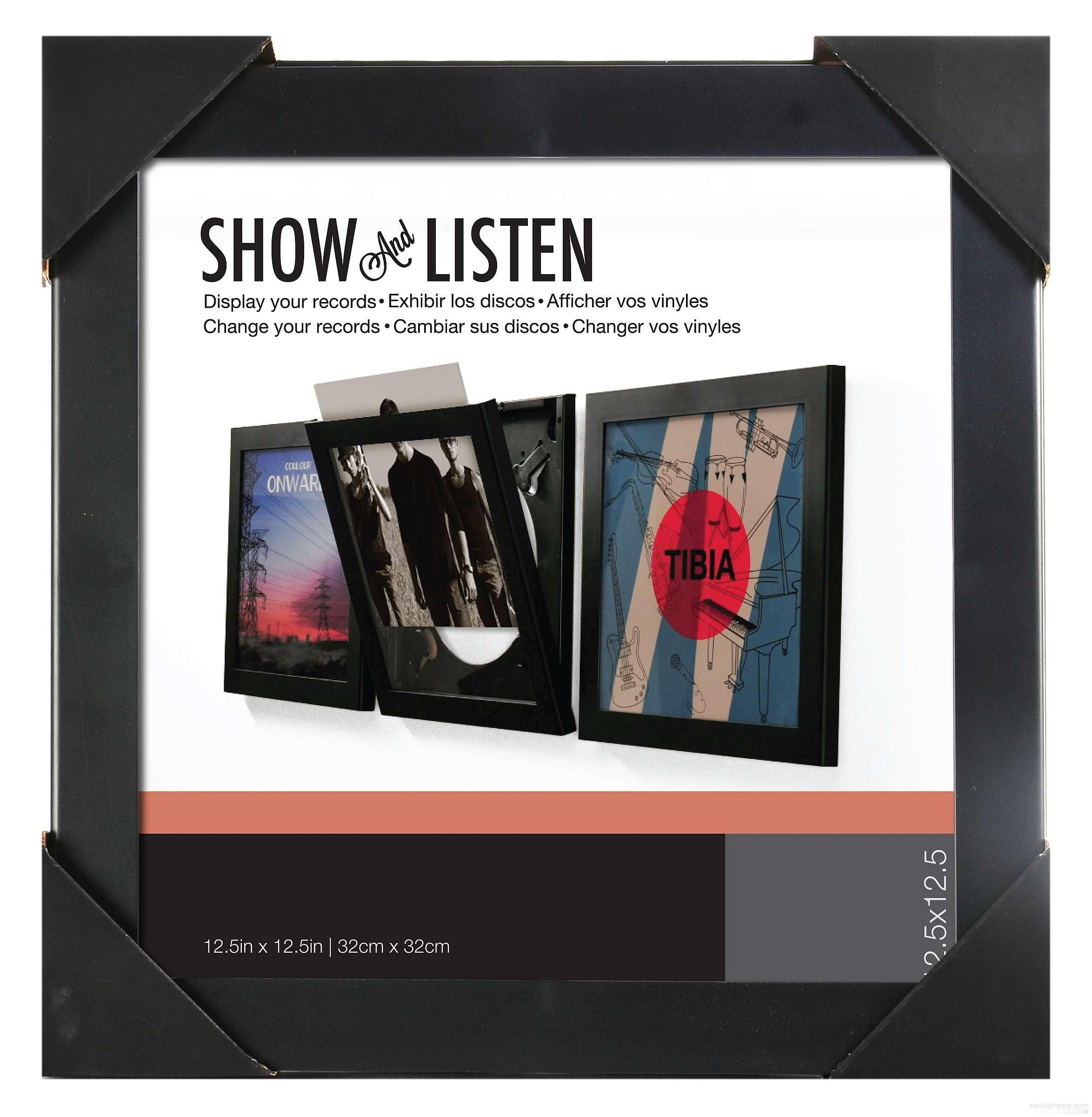 Show And Listen Vinyl Record Frame By Snap Picture Frames Photo Albums And Gifts Framed Records Used Vinyl Records Frame Display