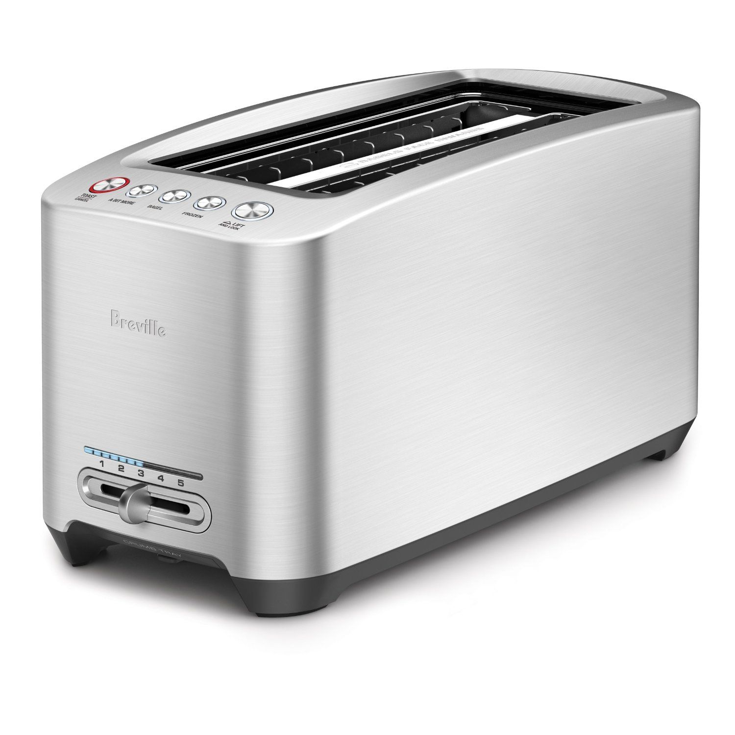 Breville Bta830xl Die Cast 4 Slice Long Slot Smart Toaster This Is An Amazon Affiliate Link Check Out The Image Breville Toaster Long Slot Toaster Toaster