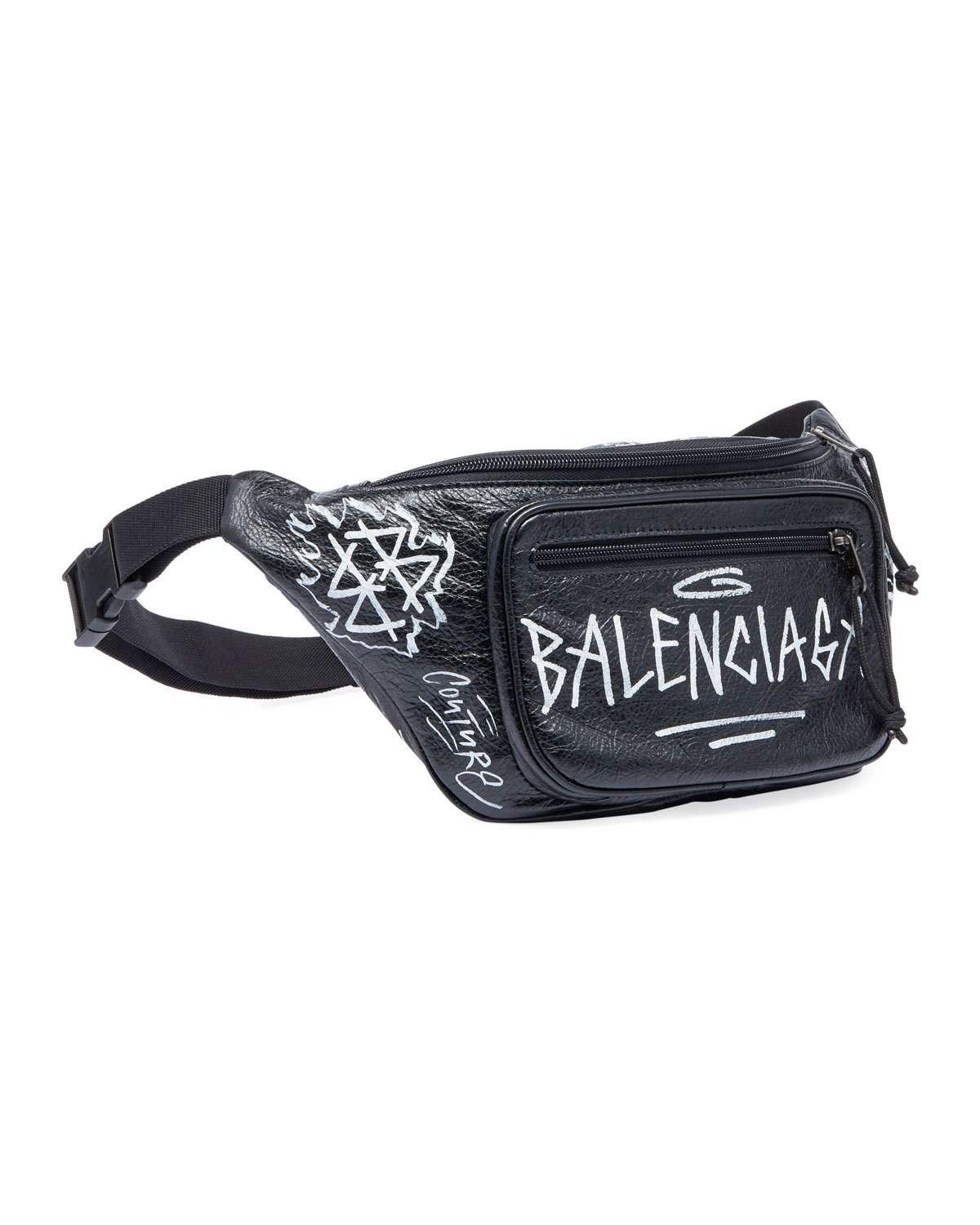8f15721ad812 Balenciaga Graffiti-Print Leather Belt Bag in 2019 | Products ...