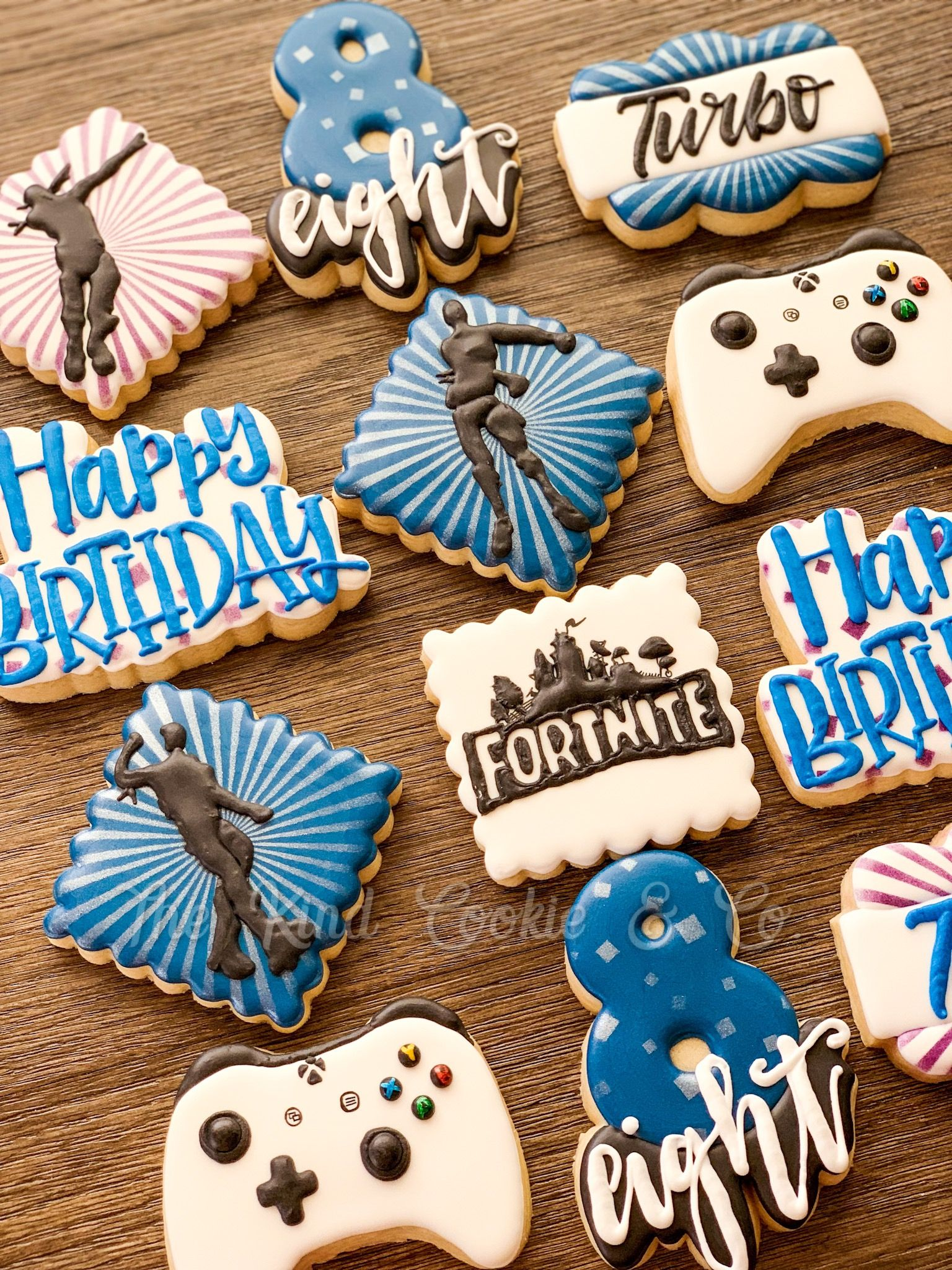 Eat sleep fortnite repeat in 2020 sugar cookies
