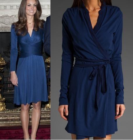 Kate Middleton's iconic Issa London blue dress   Kate Middleton ...