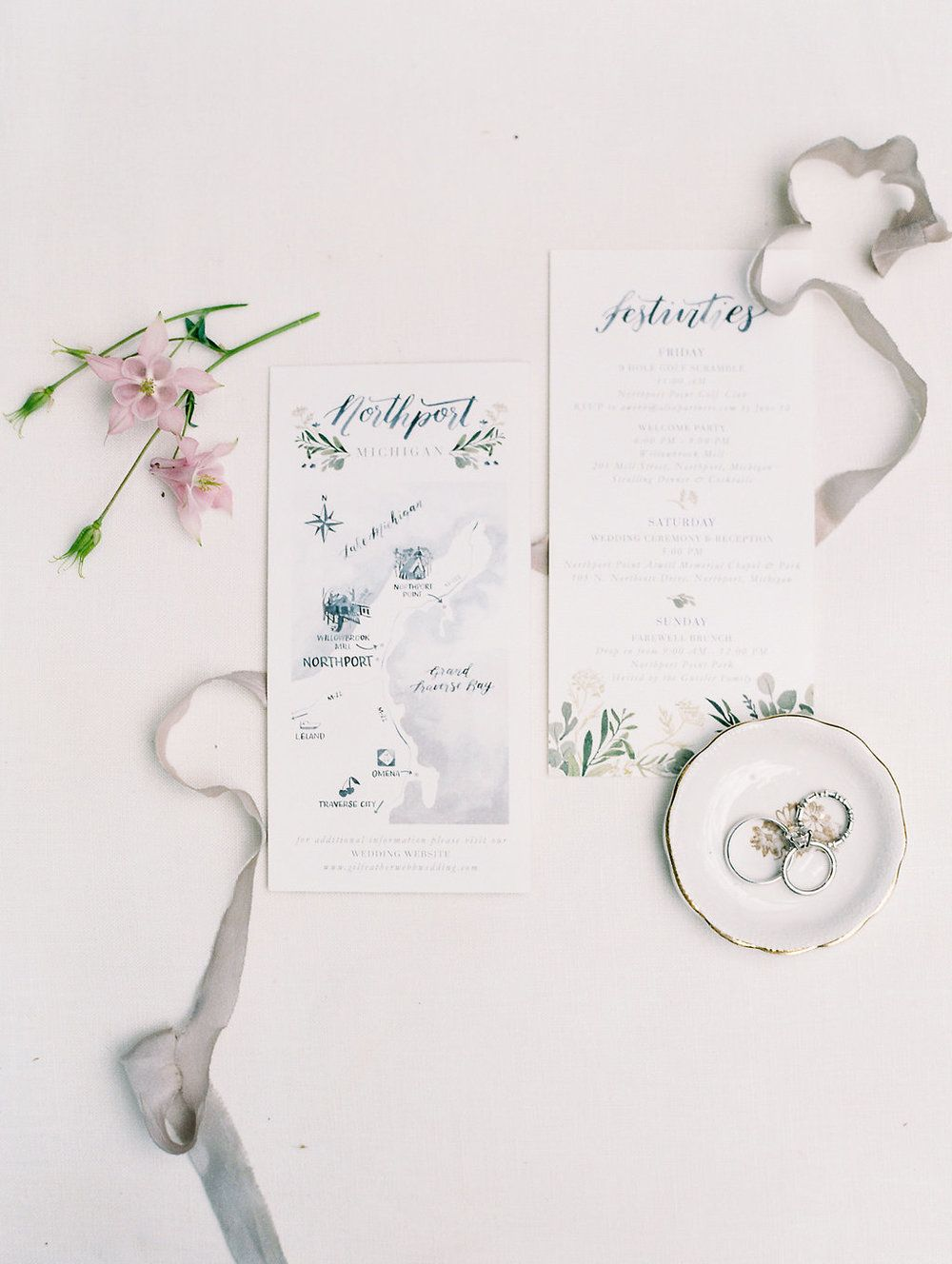 Custom Wedding Invitations by Sable and Gray | Custom Wedding Map ...