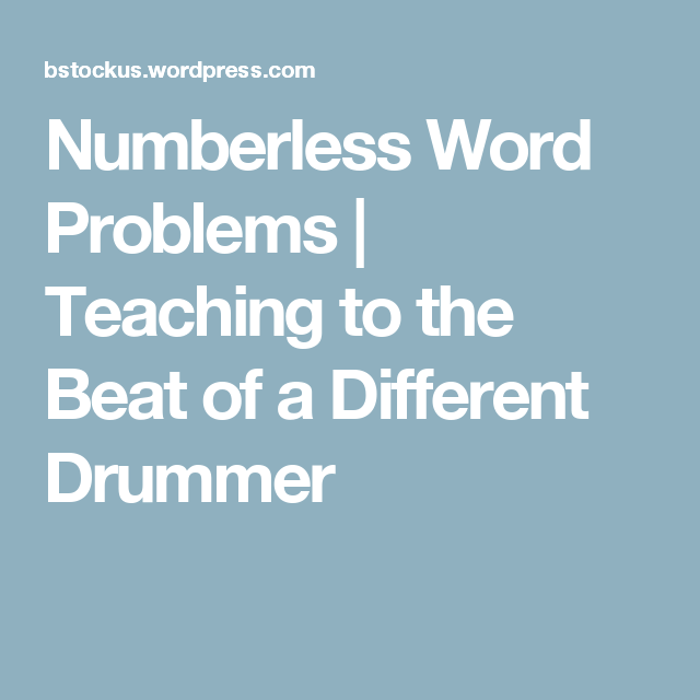 Numberless Word Problems   Word problems, Math and Math problem solving