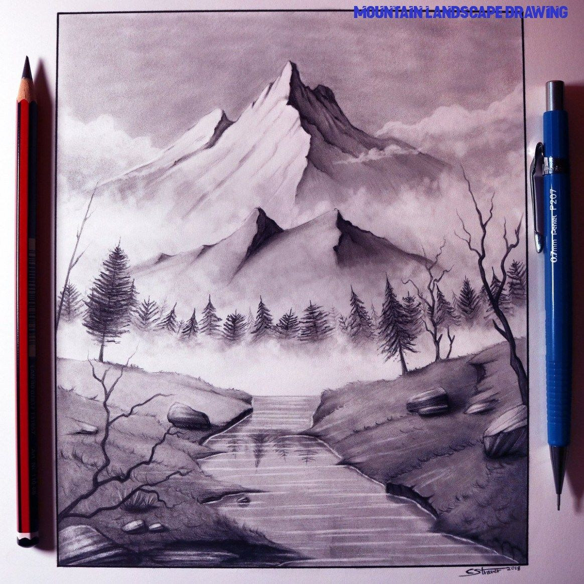 All You Need To Know About Mountain Landscape Drawing ...