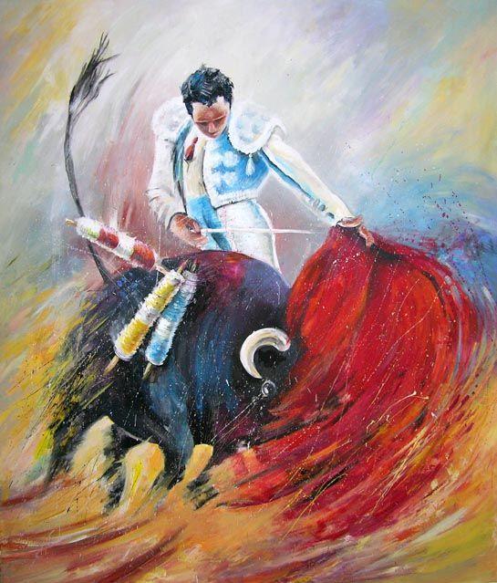 Bullfight Paintings Cuadros Taurinos Peintures De Corridas Schilderij Schilder Tekenen