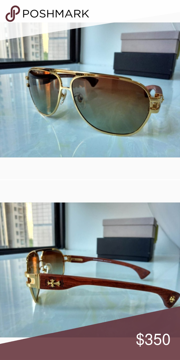 2512b30ceef Authentic Chrome hearts Rich wood Chrome Hearts Accessories Sunglasses