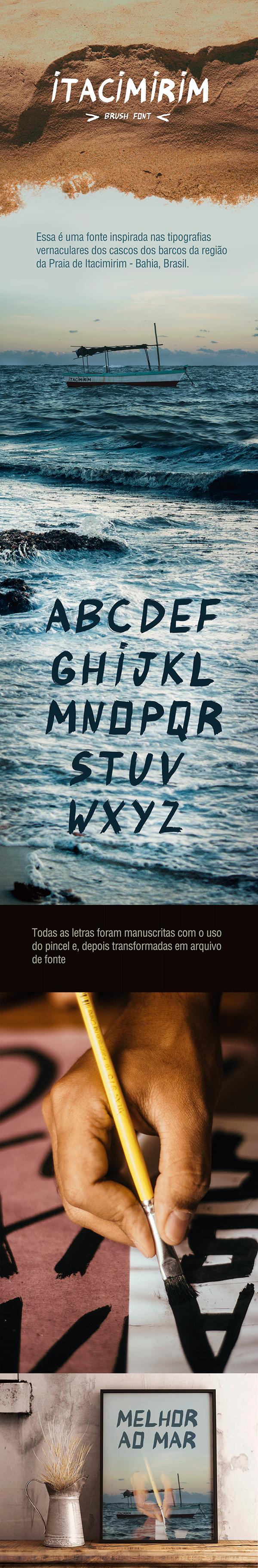 Itacimirim Brush Font on Behance Itacimirim