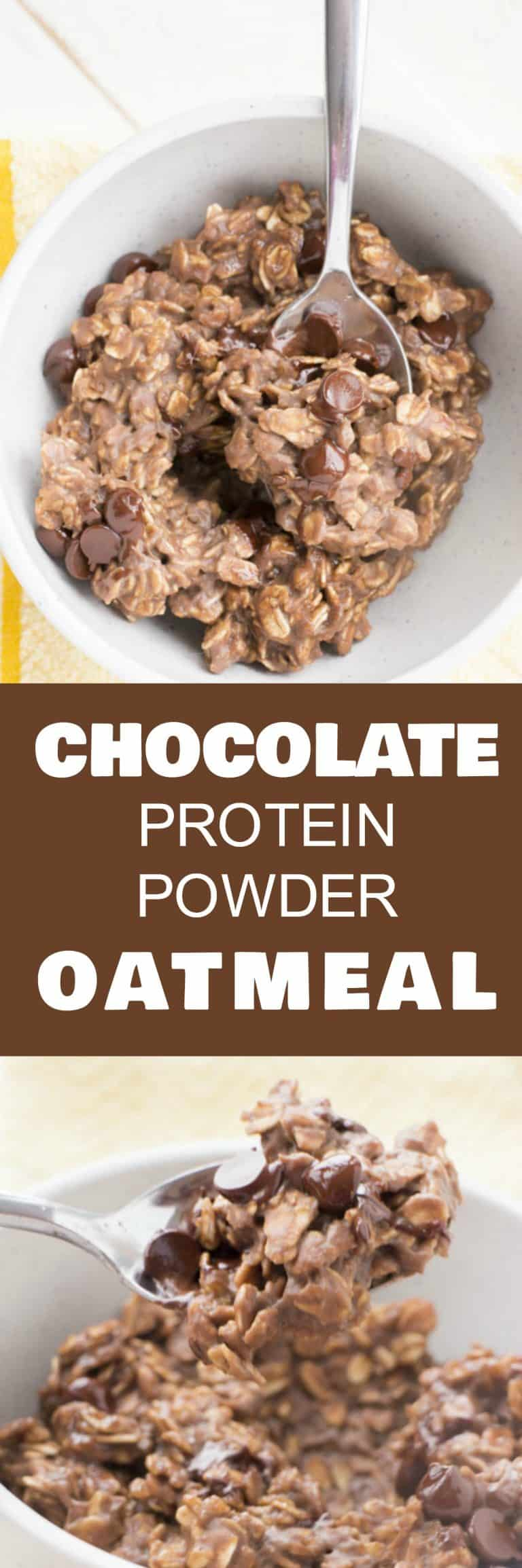 Chocolate Protein Powder Oatmeal #proteinpowderpancakes
