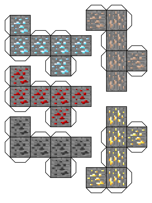 поделки майнкрафт из бумаги блоки #7