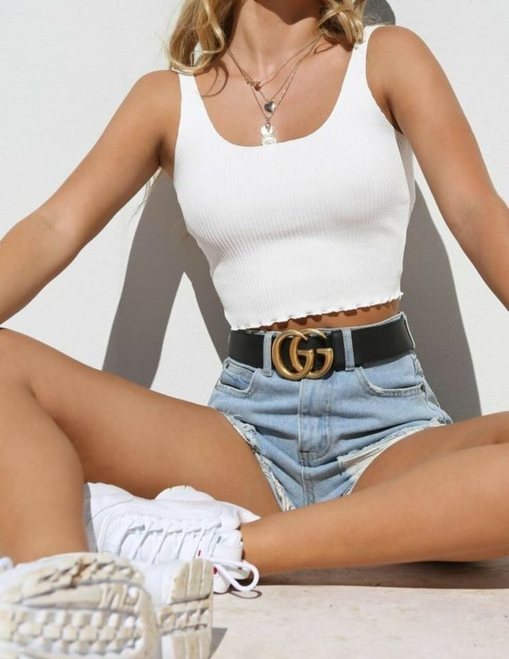 Picture about fashion of Maria Leonidouu - Crop top outfits, Outfits verano, Edgy outfits, Fashion outfits, Outfits for teens, Summer outfits - Image about outfit in fashion by maria leonidouu Picture about fashion of Maria Leonidouu