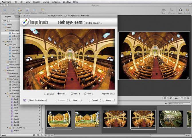 IMADIO - Fisheye-Hemi fisheye lens correction software