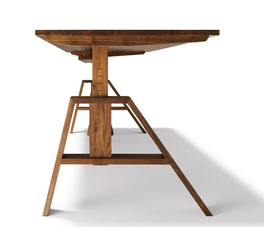 Atelier Height Adjustable Desk Image Medium Sized Id Like To - Adjustable height desk diy