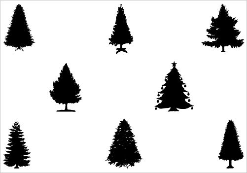 Religious Silhouette Clip Art   Christmas Tree silhouette vector ...