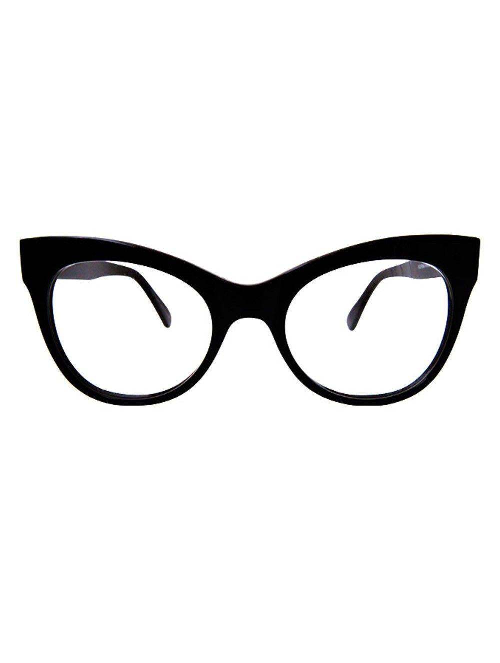 e3b024ca3867 Norma Kamali Square Cat Black Eye Glasses
