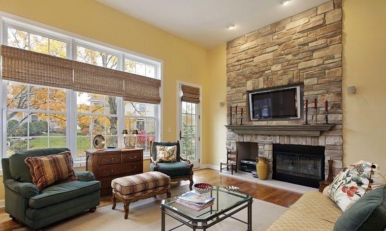 arredare soggiorno stile classico parete moderna ...