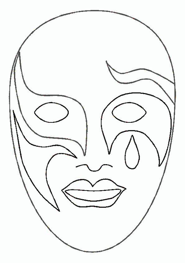 Masken Ausmalbilder 05 Ausprobieren Masken Masken Vorlagen Und
