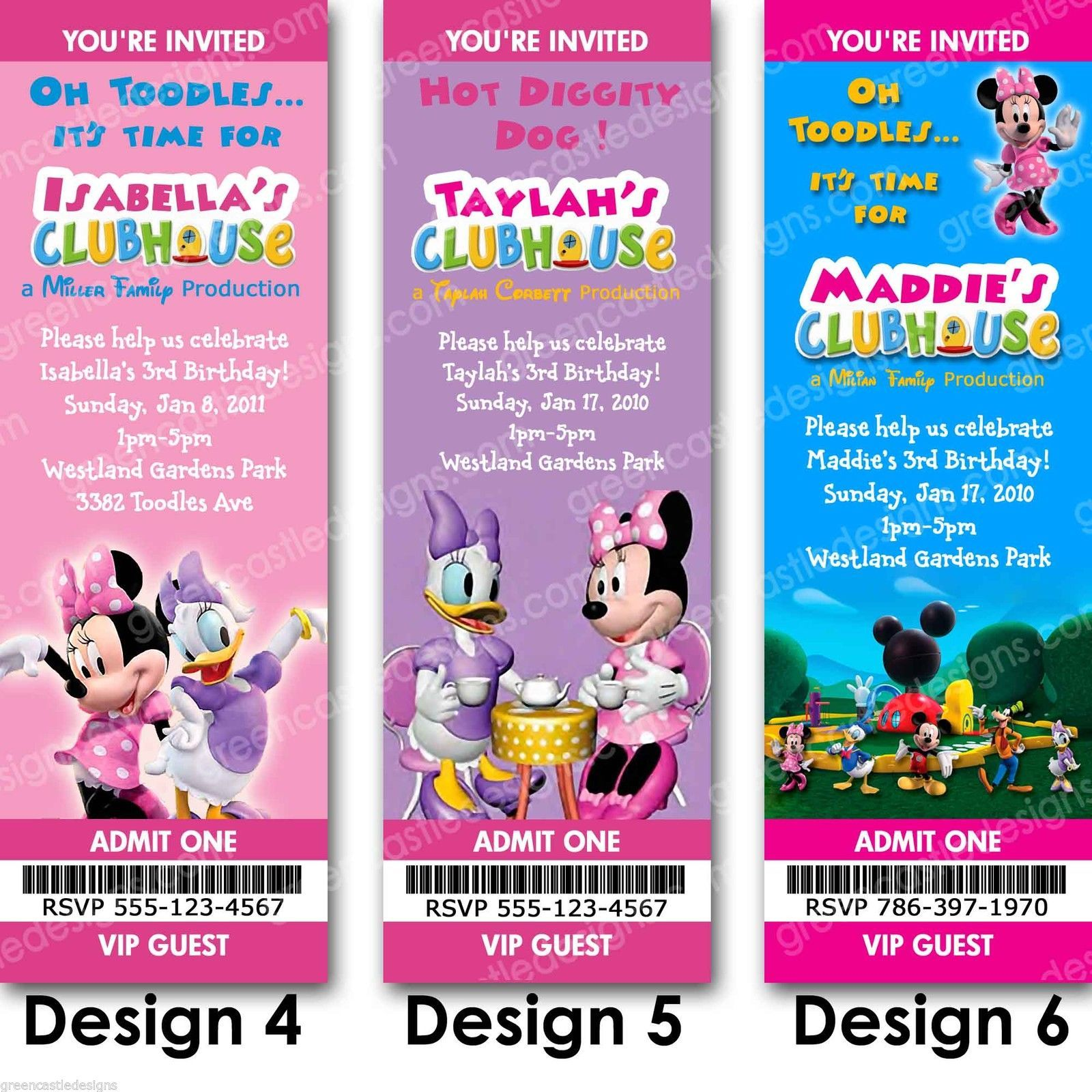 Free Printable Minnie Mouse Party Invitations Mickey Mouse