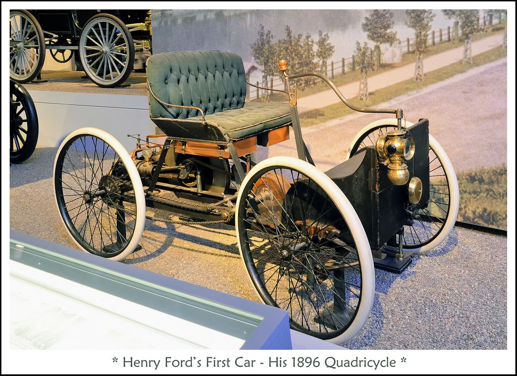 1896 Quadricycle Henry Ford S First Car Henry Ford First Car