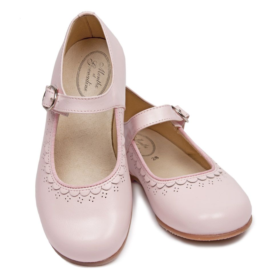 25a147734bfd GIRLS LOVE PINK! The prettiest pale pink Mary Jane shoes for girls! Ideal  for flower girls