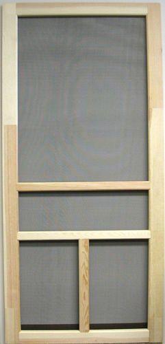 Stain To Match Decking At Menards 36 X 81 Heavy Duty Wood T Bar Screen Door Wooden Screen Door Screen Door Wooden Screen