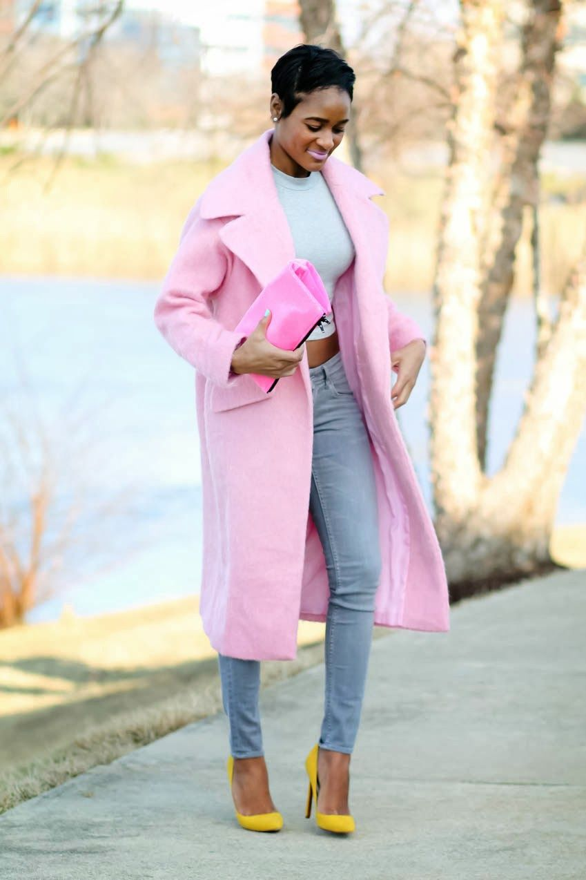 1000  images about Pink coat ideas on Pinterest | Street styles