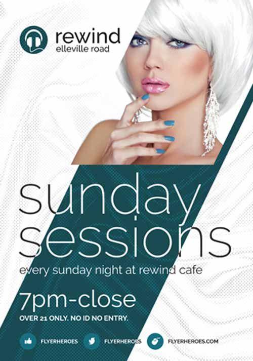 Sunday Sessions Free Flyer Template Httpffflyerdj Blade