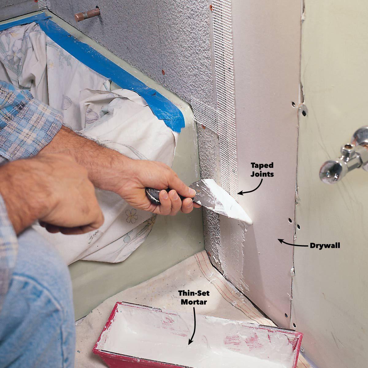 Cement Board Ceramic Tile In 2020 Diy Bathroom Remodel Tub To Shower Remodel Shower Remodel