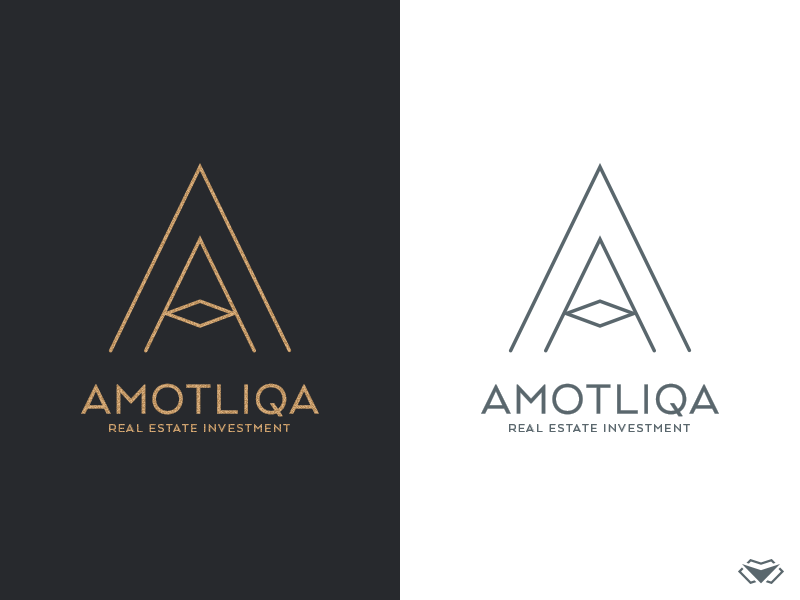 Amotliqa Logo By Visual Curve A A Letter Classy Elegant Gold Initial Letter A Logo Logotype Mode Flower Logo Logo Branding Printing Business Cards
