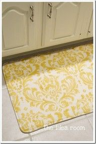 Another pinner says: Something New - DIY foam rugs.-love love love this!! So easy!