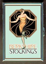 Vintage Glamour Girl Ad ID Holder Cigarette Case or Wallet USA Made