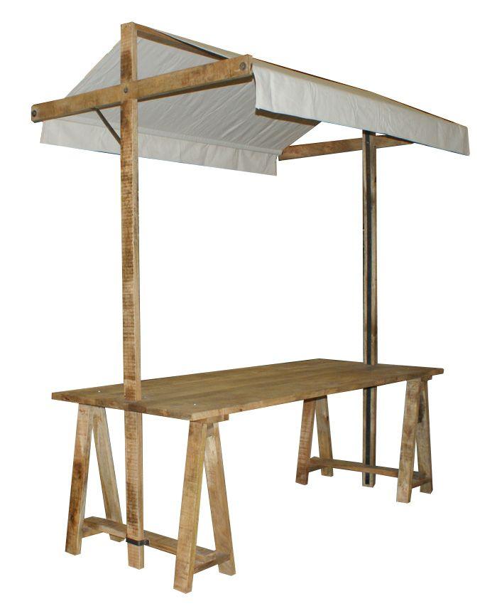 Mesas caballete con toldo de la firma francisco segarra - Mesa con caballetes ...