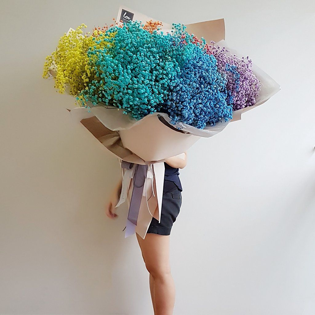 Multicolored Mix Of Gypsophila Little Flowers Dried Baby Etsy Tiny Flowers Dried Flowers Little Flowers