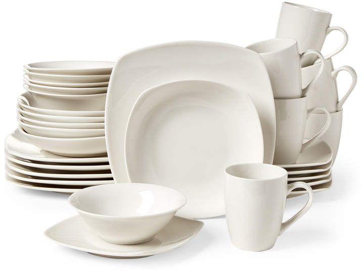 30 Piece White Hagen Dinnerware Set Dinnerware Dinnerware Sets Dinner Plates