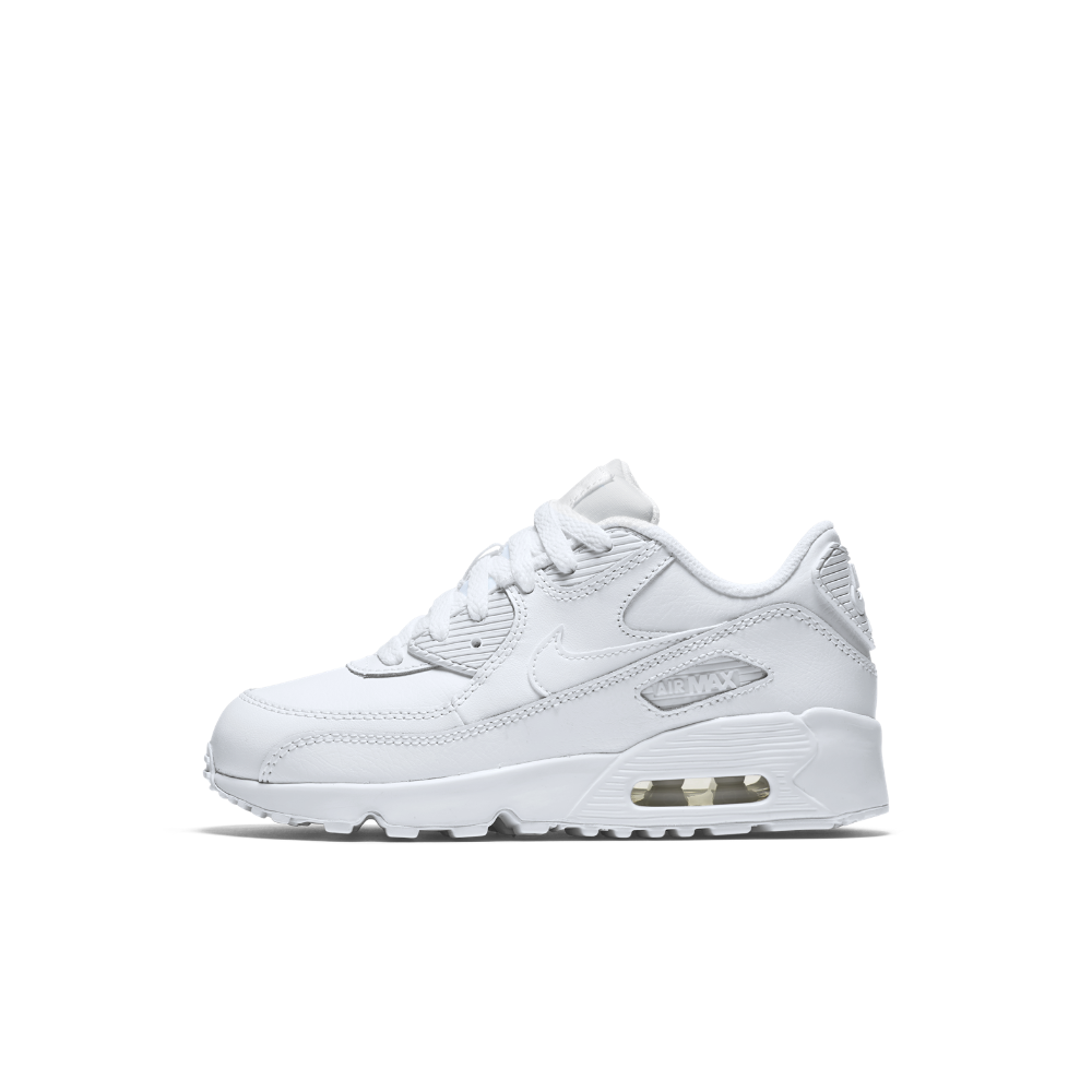 0f82ab32b0f1 Nike Air Max 90 Leather Little Kids  Shoe Size 12.5C (White) - Clearance  Sale
