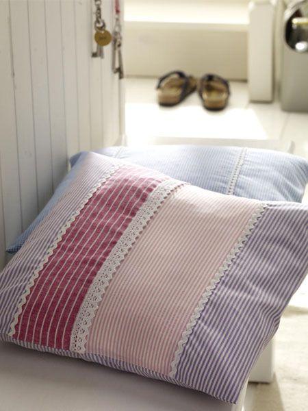 stoffreste verwerten kissen7 alles mit stoff lace. Black Bedroom Furniture Sets. Home Design Ideas