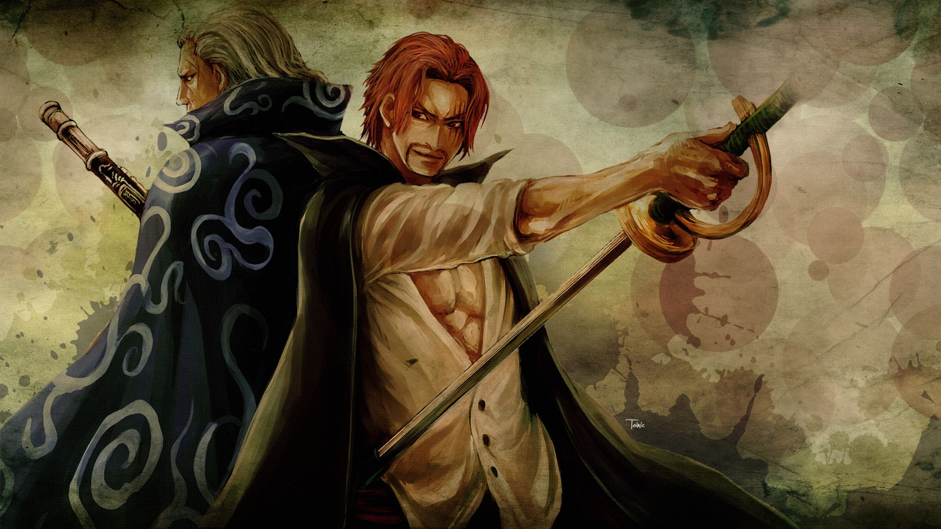 Google themes anime one piece - Benn Beckman Shanks Red Haired Shanks One Piece Anime