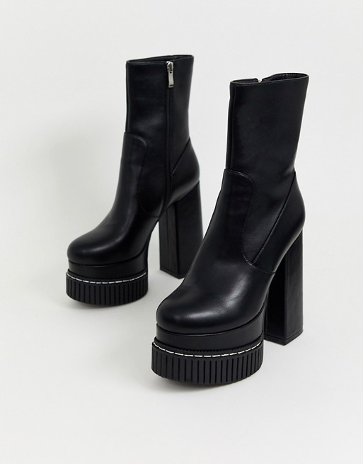 Lamoda chunky platform sock boots in