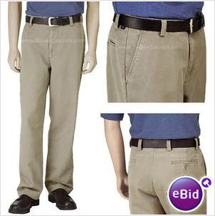 Dockers Flat Front Washed Chino Khaki 30 x 30 - Brand New With Tags