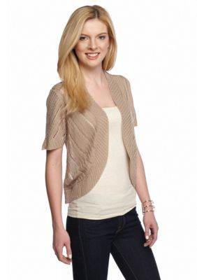 New Directions® Chevron Shrug Sweater #shrugsweater