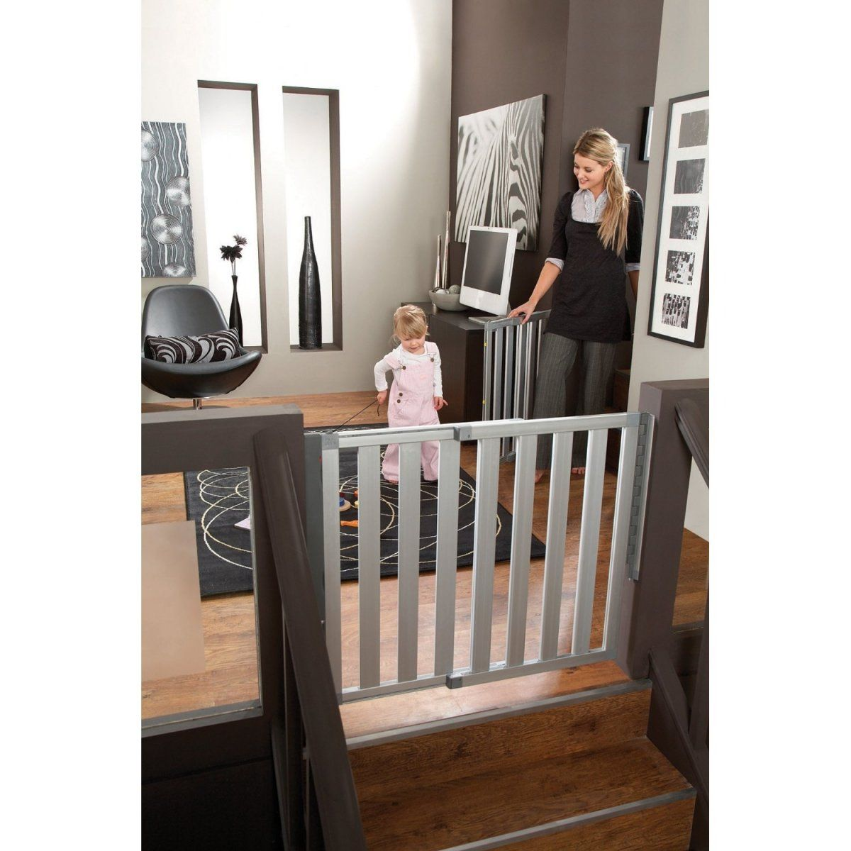 stunning gray baby safety gate for stairs design ideas with  - stunning gray baby safety gate for stairs design ideas with floating shapedsafety gate style that