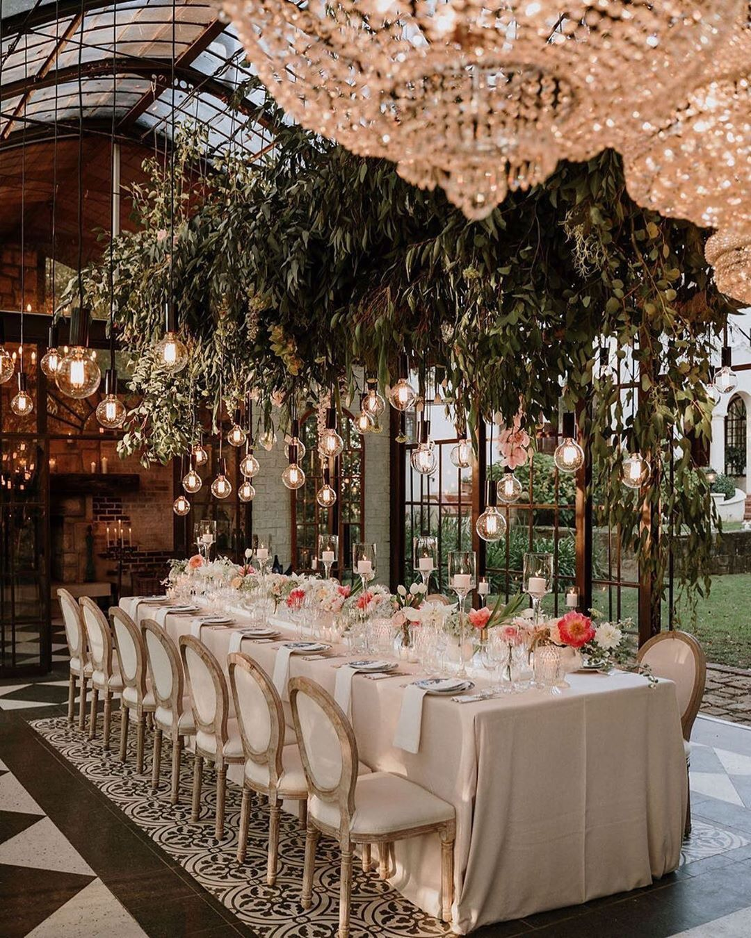 Wedding Decor Inspiration On Instagram This Beautiful Private Conservatory Was Tra Intimate Wedding Reception Whimsical Wedding Decorations Whimsical Wedding