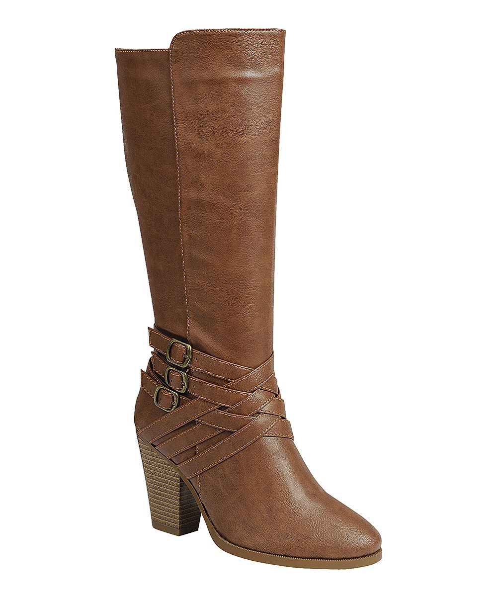 9122ba8b5948 Tan Camila Ankle-Buckle Boot - Women