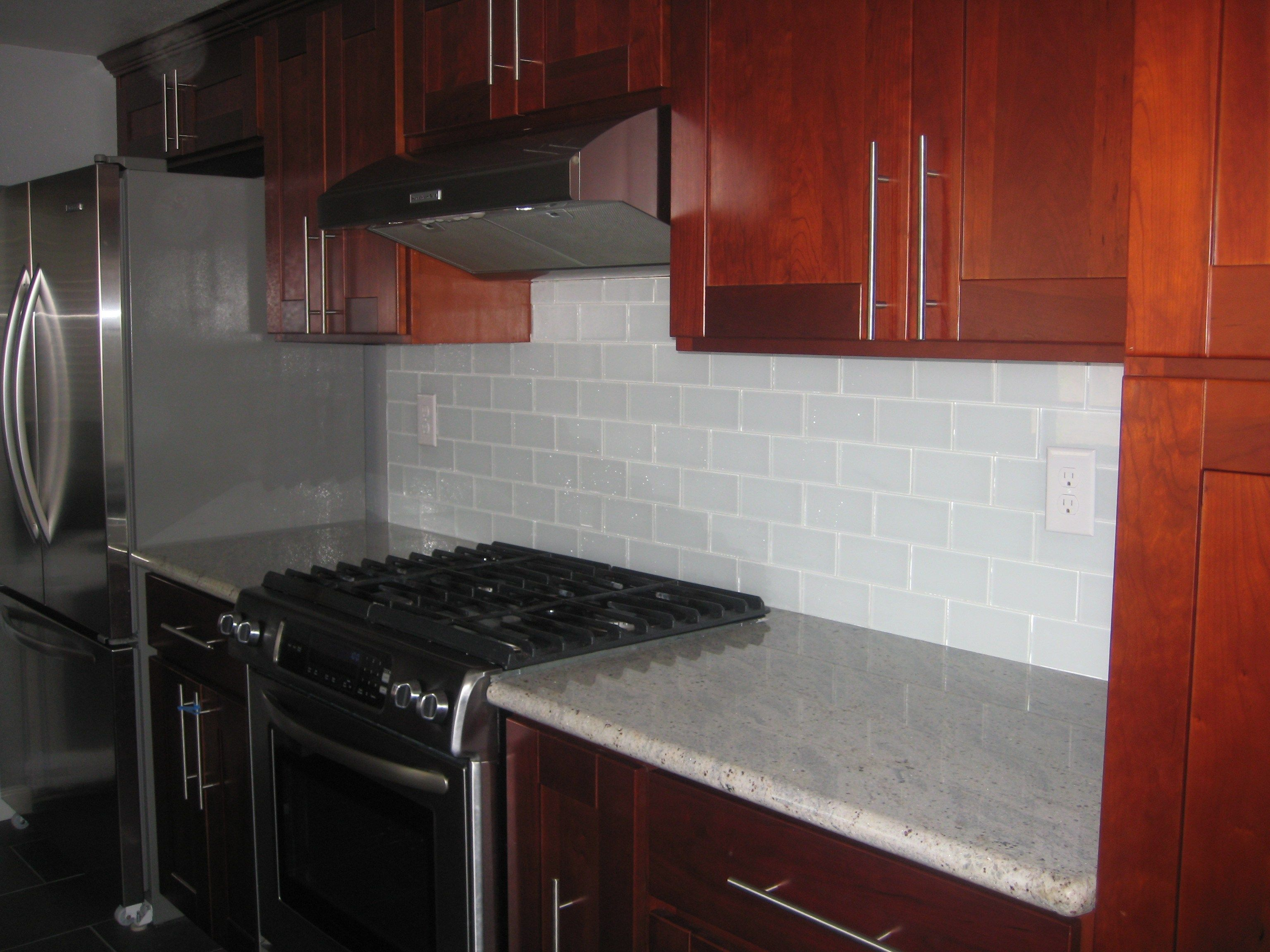 white glass subway tile contemporary kitchen backsplash subway tile ...