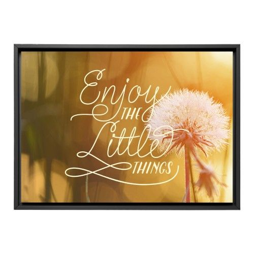 Enjoy the Little Things Canvas Print, Black, Single piece, 10 x 14 inches, White