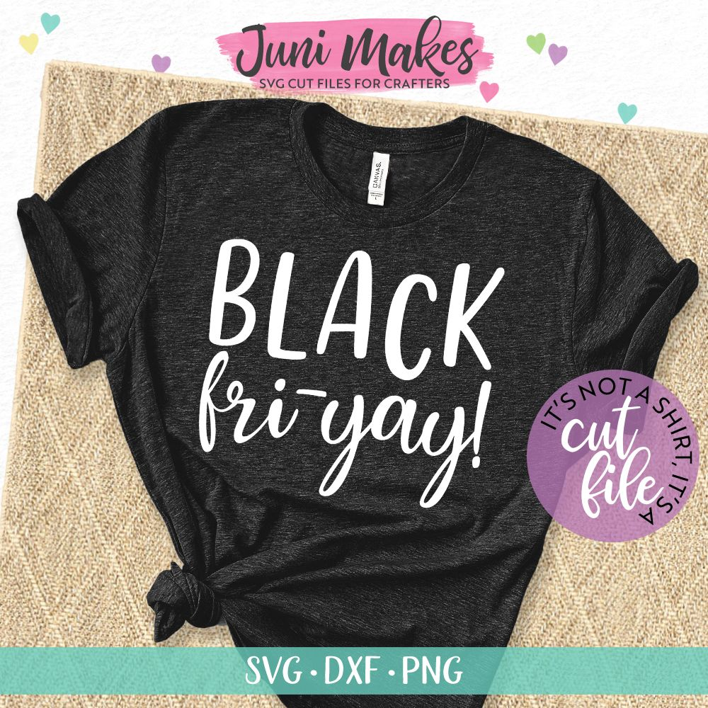 Black Fri-Yay SVG | Black Friday SVG | Shopping T-Shirt Design