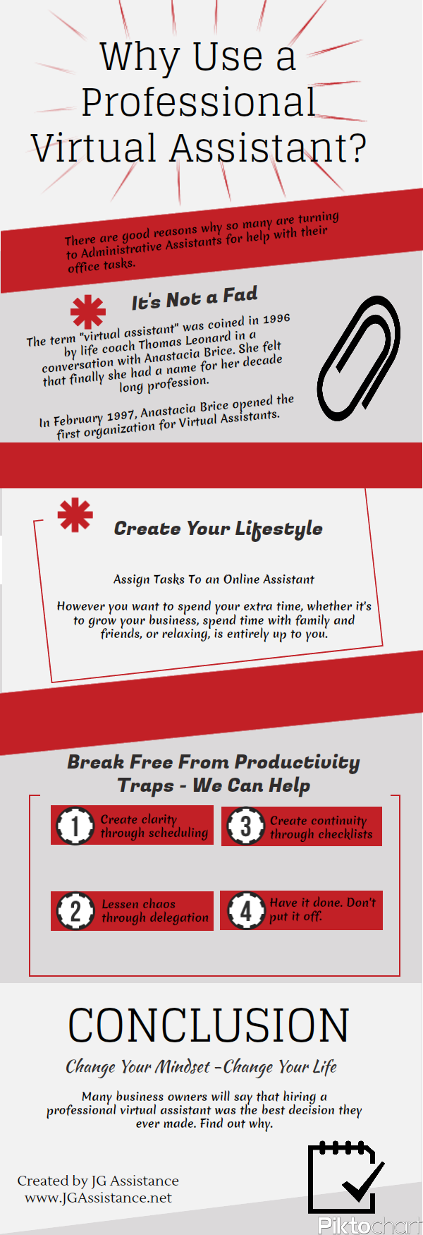 Why Use a Professional Virtual Assistant - Infographic