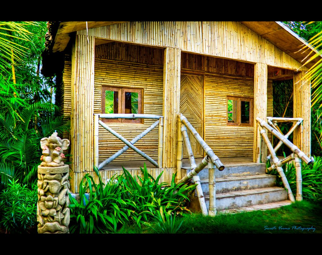 Bamboo House Near A Beach Bamboo House Bamboo Architecture
