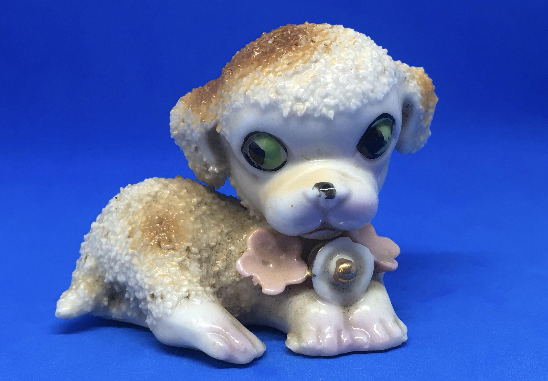 Spagetti PINK POODLE VINTAGEKnick KnackLIttle Poodle Dog