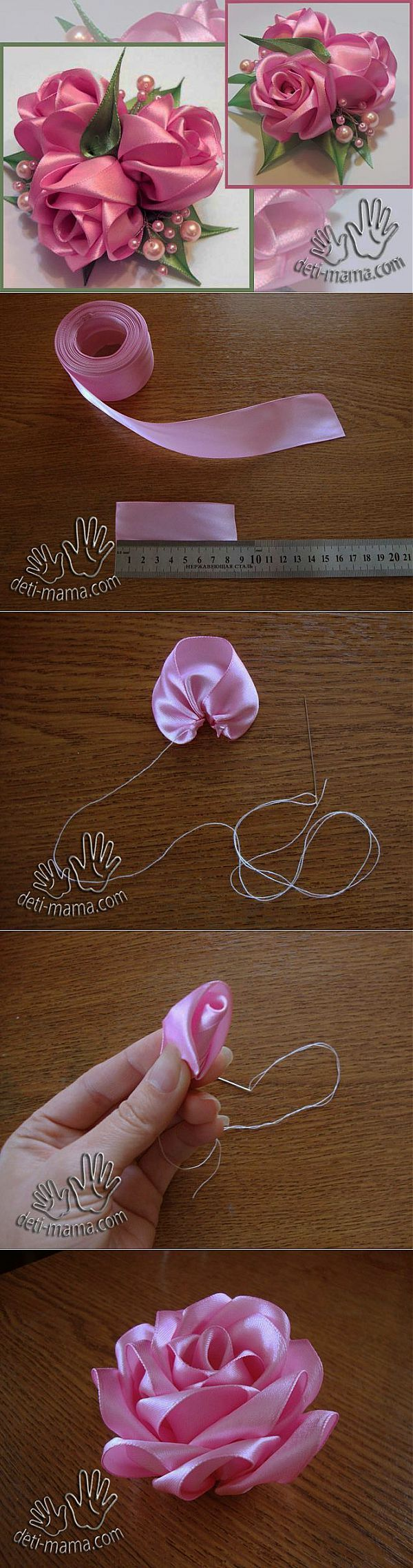 Pretty ribbon flower